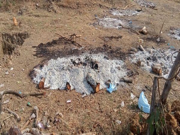 सड्डू के श्मशान में हर दिन 5 से 6 शवों का अंतिम संस्कार नगर निगम की टीम कर रही है।