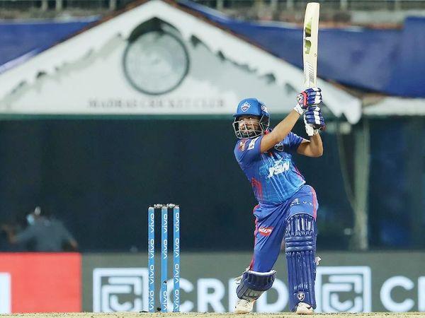 पृथ्वी शॉ ने IPL में अपनी 8वीं फिफ्टी लगाई। उन्होंने 39 बॉल पर 53 रन की पारी खेली।