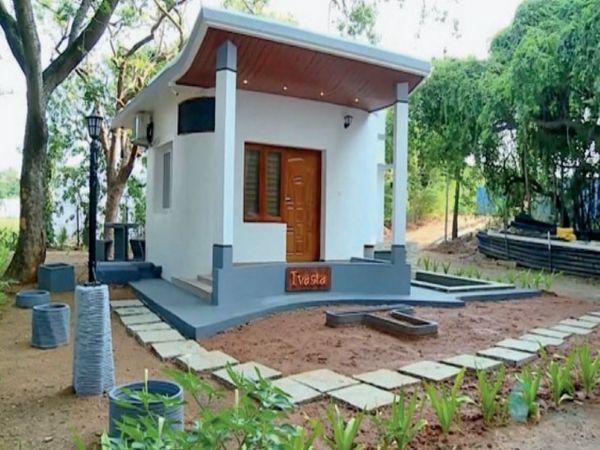 फिनिश्ड घर बनाने तक हर चीज 'मेड इन इंडिया' है। हाउसिंग के क्षेत्र में इसे क्रांतिकारी तकनीक माना जा रहा है। - Dainik Bhaskar