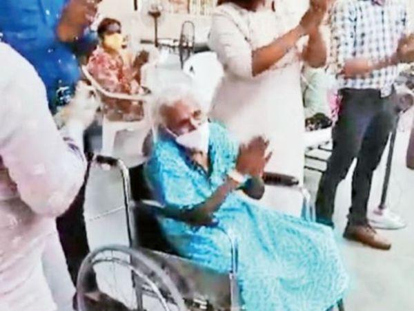 कतरगाम सरिता सोसाइटी की रहने वाली दादी 15 तारीख को पॉजिटिव निकलीं - दैनिक भास्कर