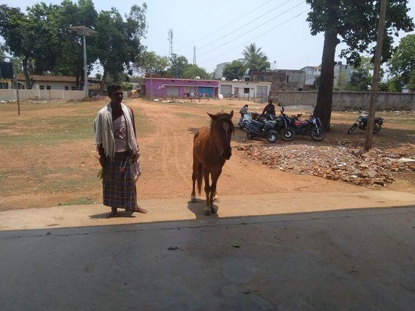 बृज लाल नेताम (46) शुक्रवार को घोड़े पर बैठकर वैक्सीन लगवाने पहुंचे।  उन्हें इस तरह देखकर हर कोई हैरान हो गया।