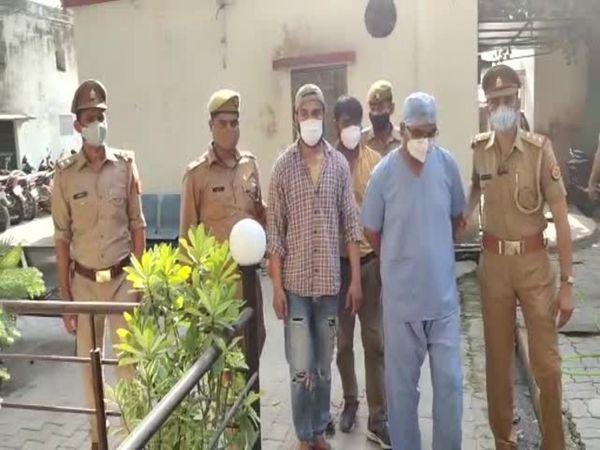 यूपी के कानपुर में पुलिस ने रे� - Dainik Bhaskar