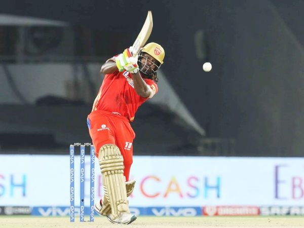 Chris Gayle scored 46 off 24 balls.  He hit 2 sixes and 4 fours.