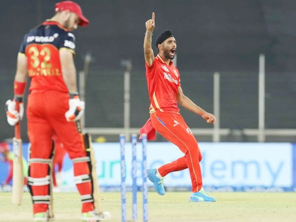 Harpreet Brar bowled Glenn Maxwell for the second consecutive ball after Virat Kohli.