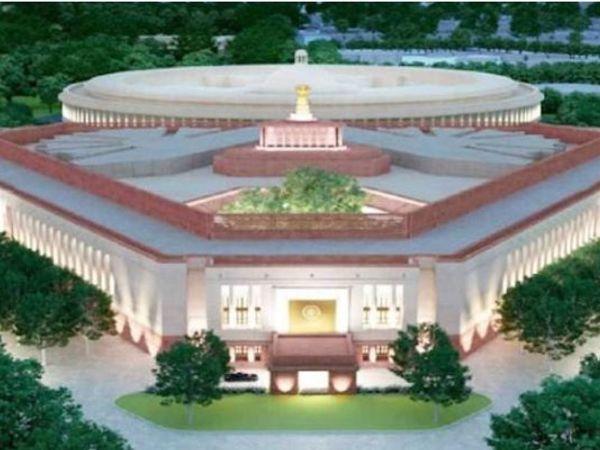 सेंट्रल विस्टा प्रोजेक्ट के तहत बनाए जा रहे प्रधानमंत्री के नए आवास का मॉडल। - Dainik Bhaskar