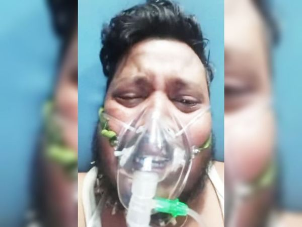 शनिवार को अनिल का रोते हुए वीडियो वायरल हुआ था। - Dainik Bhaskar