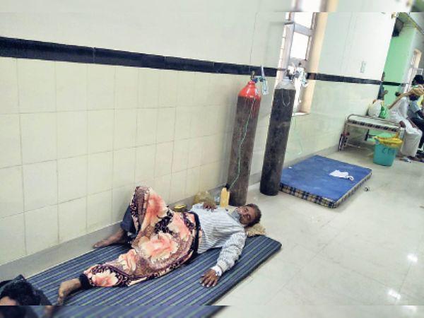 अब जमीन पर चिकित्सा व्यवस्था - Dainik Bhaskar