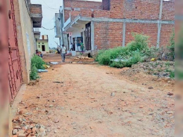 शहर के वार्ड 47 स्थित सुदामा नगर की बस्ती जिसे वैध किया जाना है। - Dainik Bhaskar