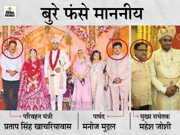 बिना मास्क के शादी में गए थे माननीय। - Dainik Bhaskar