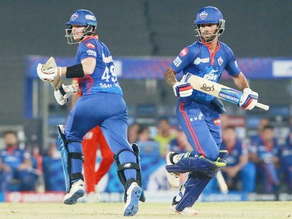 167 रन के टारगेट के जवाब में ओपनर शिखर धवन ने 47 बॉल पर 69 रन की नाबाद पारी खेली। स्टीव स्मिथ ने 25 रन बनाए। दोनों ने 41 बॉल पर 48 रन की पार्टनरशिप की।