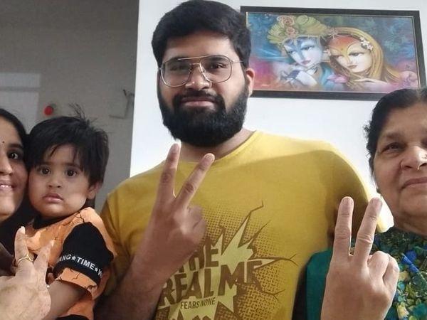 संक्रमण को मात देकर अब पूरा परिवार स्वस्थ। - Dainik Bhaskar