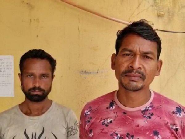 शंकर सिंह खुद को पत्रकार बताता था। वहीं प्रमोद कंवर पुलिस का बर्खास्त सिपाही है। - Dainik Bhaskar