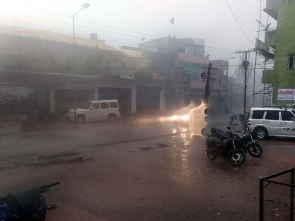 लातेहार में हुई बारिश से लोगों को गर्मी से राहत मिली। - Dainik Bhaskar