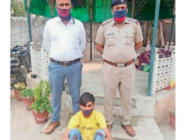 पानीपत. हत्या के मामले में गिरफ्तार अाराेपी शिकायतकर्ता पिंटू। - Dainik Bhaskar