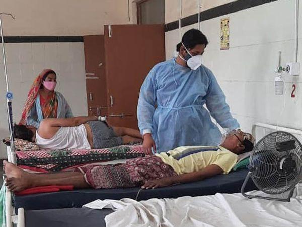 पीबीएम अस्पताल का कोविड वार्ड जहां ऑक्सीजन की कमी नहीं है। - Dainik Bhaskar