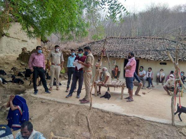 घटना के बाद पुलिस ने ग्रामीणों से पूछताछ की।