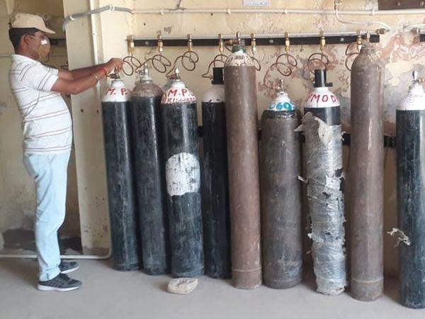 श्रीगंगानगर  के सरकारी अस्पताल में लगा ऑक्सीजन प्लांट। - Dainik Bhaskar