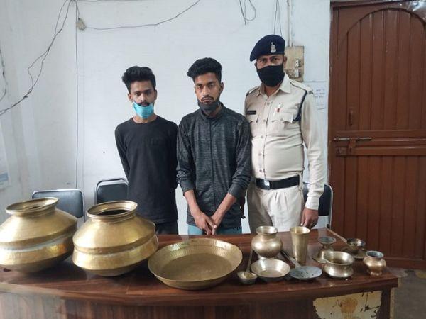 भिलाई पुलिस ने चोर गिरोह के सरगना समेत 8 को गिरफ्तार किया है। घरेलू सामान समेत नगदी बरामद की गई। - Dainik Bhaskar