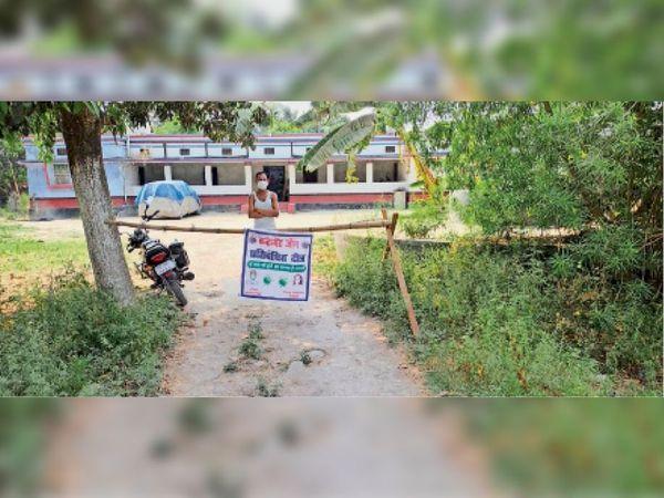 भगवानपुर के कीरतपुर मंे छह से अधिक पॉजिटिव मिलने पर इलाके को घेरा। - Dainik Bhaskar