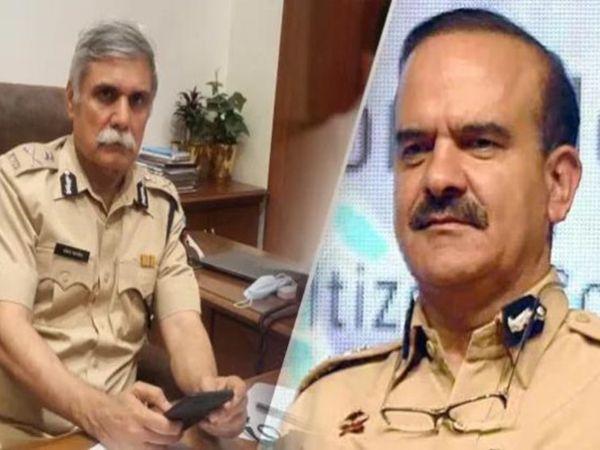 महाराष्ट्र के DGP संजय पांडे (बाएं) को परमबीर सिंह के खिलाफ दो मामलों की जांच सौंपी गई थी। - Dainik Bhaskar