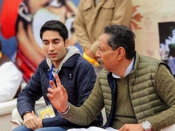 विश्वेंद्र सिंह के साथ अनिरुद� - Dainik Bhaskar