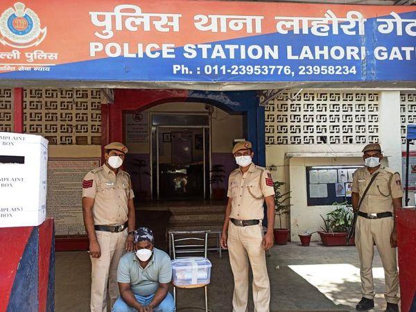 कोरोना मरीज की शिकायत पर पुलिस ने आरोपी को गिरफ्तार किया। - Dainik Bhaskar