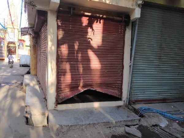 किराना की शटर का ताला तोड़कर चोरी। - Dainik Bhaskar