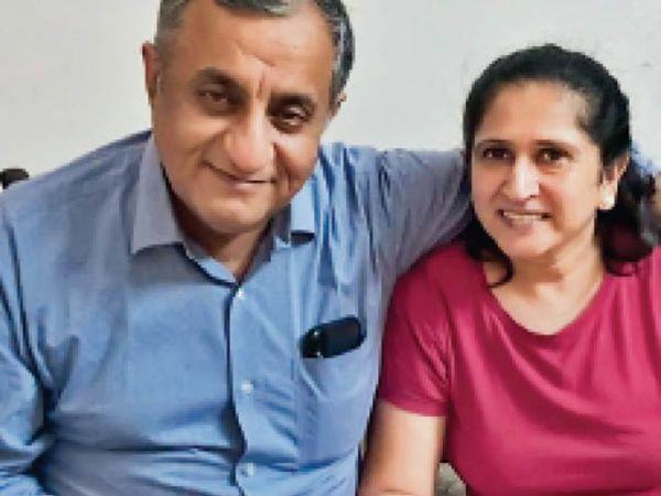 पानीपत. विकास बतरा और उनकी पत्नी रजनी बतरा। - Dainik Bhaskar
