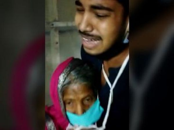 बूढ़े मरीज के पोतों ने वीडियो बनाकर अस्पताल में ऑक्सीजन की कमी को दिखाया था। - Dainik Bhaskar