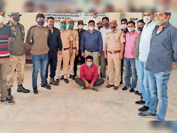 कांस्टेबल की हत्या का गिरफ्तार आरोपी। - Dainik Bhaskar
