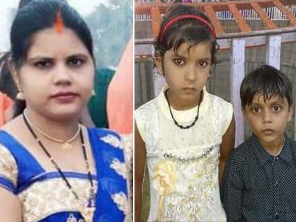 रीना देवी और उसके बच्चे। (फाइल) - Dainik Bhaskar