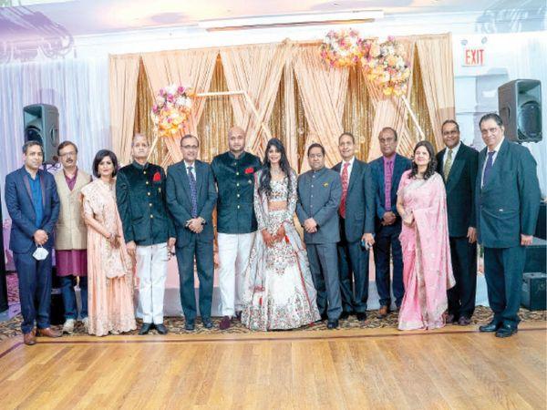 अमेरिका के न्यूयॉर्क में जोधपुर निवासी जयपुर फुट यूएसए के चेयरमैन प्रेम भंडारी के सुपुत्र के सगाई समारोह में आए मेहमानों नेे की मातृभूमि के लिए घोषणाएं। - Dainik Bhaskar