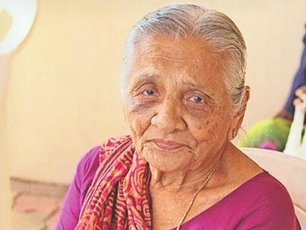 90 वर्षीय सविताबेन ठीक, भर्ती होते समय बोली थीं- मैं कोरोना से नहीं डरती - Dainik Bhaskar