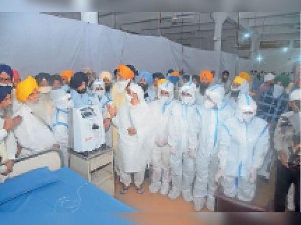 गुरुद्वारा मंजी साहिब आलमगीर में एसजीपीसी कोविड केयर सेंटर की शुरुआत की गई। - Dainik Bhaskar