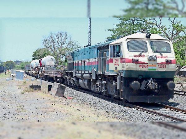 उम्मीदों को ऑक्सीजन देने वाली प्रदेश की  पहली ट्रेन कोटा में - Dainik Bhaskar