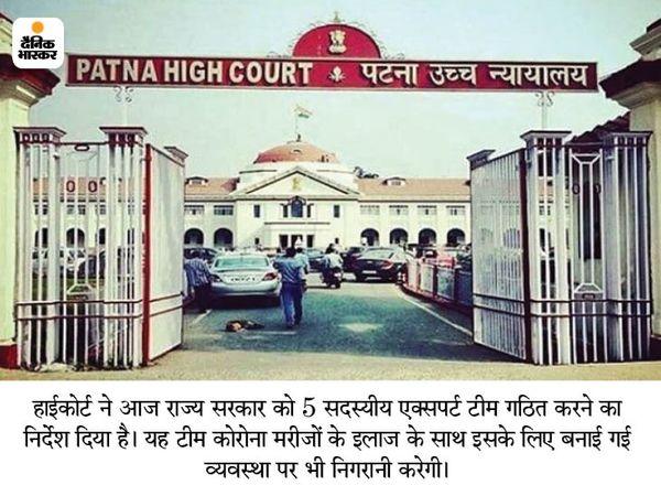 पटना हाई कोर्ट में शुक्रवार को बिहार के मुख्य सचिव ने की जा रही कार्रवाई का ब्योरा हलफनामा दे कर पेश किया। - Dainik Bhaskar