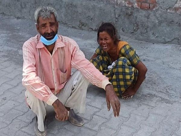 मृतका के पिता यूपी निवासी राकेश का कहना है कि उन्होंने अपनी बेटी बेबी की शादी गोकुल मथुरा निवासी विनोद के साथ की थी। विनोद उसे शादी के बाद से ही परेशान करता था। - Dainik Bhaskar