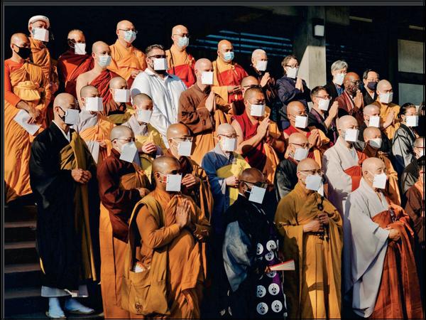 लॉस एंजिलिस में बौद्ध पुजारियों ने शांति सभा का आयोजन किया। - Dainik Bhaskar
