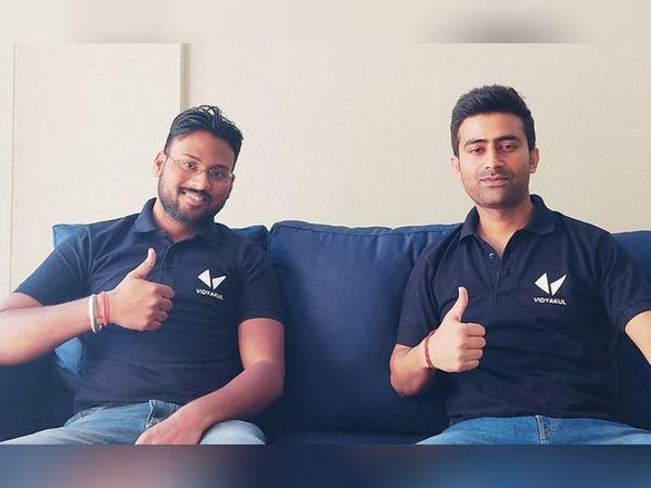 तरुण सैनी अपनी टीम के को फाउंडर रमन गर्ग के साथ। तरुण ने ऑस्ट्रेलिया से ग्रेजुएशन की पढ़ाई की है।