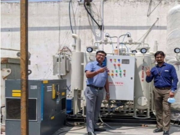 आईटीबीपी ने इटली की मदद से ऑक्सीजन प्लांट लगाया। - Dainik Bhaskar