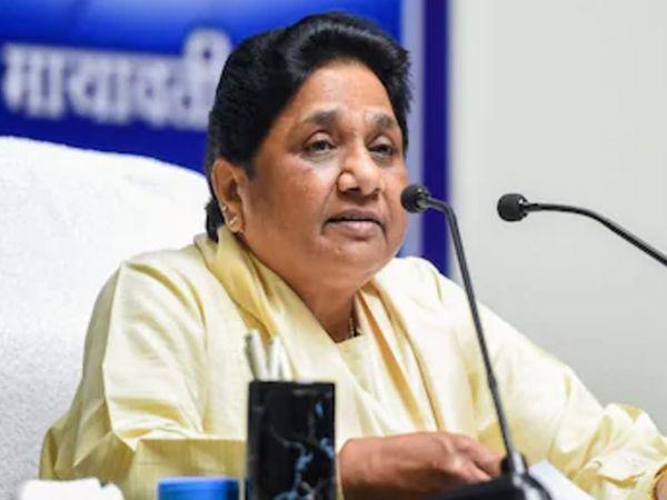 मायावती ने कहा कि चुनाव के बाद हिंसा का होना दुखद है। - Dainik Bhaskar