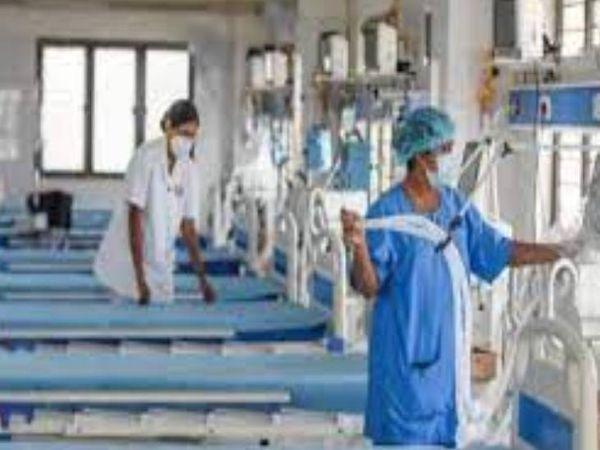 नोएडा में बना कोविड अस्पताल आज - Dainik Bhaskar