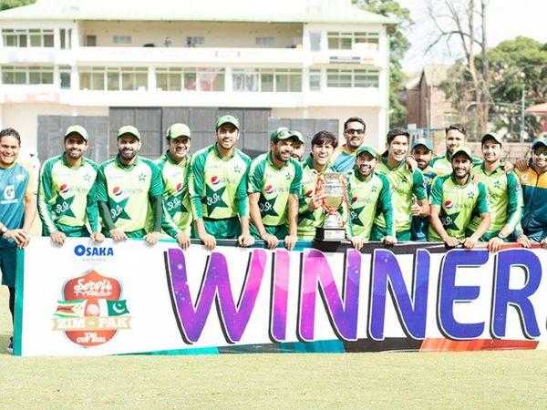 जिम्बाब्वे को पाकिस्तान ने वनडे सीरीज में 2-1 से हराया।