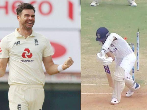 इंग्लैंड के तेज गेंदबाज जेम्स एंडरसन ने इसी साल फरवरी में चेन्नई टेस्ट में अजिंक्य रहाणे को जीरो पर क्लीन बोल्ड किया था।