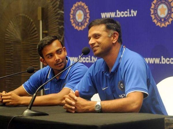 राहुल द्रविड़ के कोच रहते पृथ्वी शॉ की टीम ने अंडर-19 वर्ल्ड कप जीता।