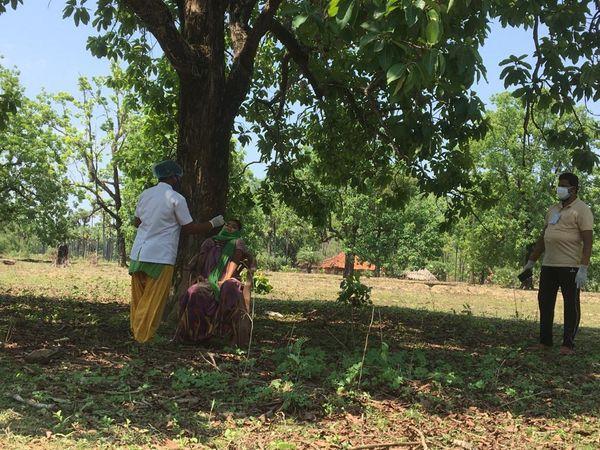 गांव के वातावरण में कीटाणुओं के संक्रमण के बारे में वे कीटाणु होते हैं जो कीटाणुओं के संक्रमण के बारे में होते हैं।  यह अच्छी तरह से तैयार है।