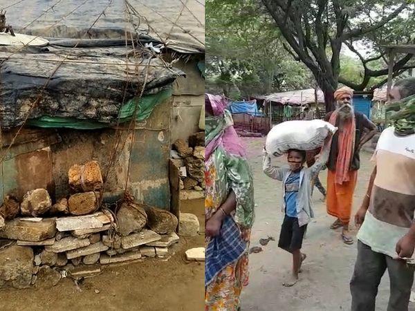 लोगों ने अपने कच्चे घरों को रस्सियों बांध दिए हैं, जिससे कि वे बच सकें।