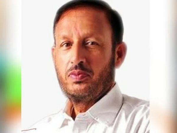 हरियाणा की कालका सीट से कांग्रेस के विधायक प्रदीप चौधरी, जिनकी सदस्यता हिमाचल में एक मामले में सजा के बाद रद्द कर दी गई थी। - Dainik Bhaskar
