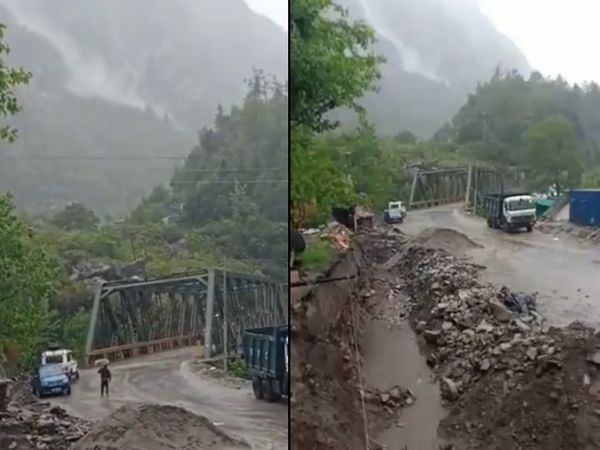 तस्वीर उत्तराखंड के लामबगड़ की है। यहां बादल फटने की खबर सामने आई है। - Dainik Bhaskar