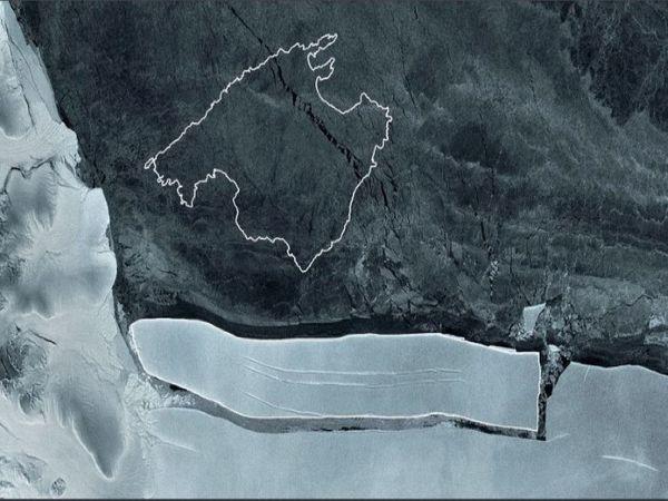 एजेंसी ने इस हिमखंड का नाम ए-76 रखा है। - Dainik Bhaskar